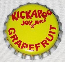 KICKAPOO Joy Juice Soda Crown NOS New Old Stock Unused New Condition GRAPEFRUIT