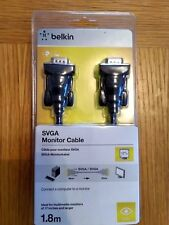 BELKIN High Integrity SVGA Monitor Screen Lead Cable HDDB15 Male to M 1.8 Metre