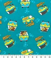 Scooby-Doo Cotton Fabric-Mystery Machine 100 % cotton 1/2 yard fabric