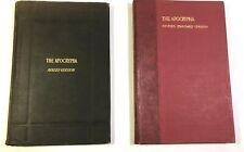 Lot 2 books APOCRYPHA  Translated Greek & Latin 1611 & Revised standard versions