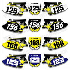 Custom Number Plate Background Decals For YAMAHA YZ450F YZF450 2010 2011 2012 13