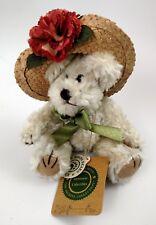 "Boyds Bears Minnie 7"" Plush Floral Straw Hat Green Bow 918441 Tags"