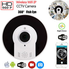 Wireless HD 960P Fish Eye IP WiFi Panoramic VR Camera Home Security CCTV Camera