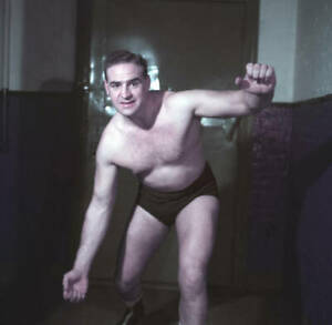 Wrestler Roy Mcclarity Of Canada 1950s OLD PHOTO