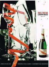 Publicité Advertising 1997 Le Champagne Cordon rouge Mumm