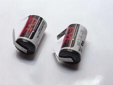 2 Batterie eve LITIO LS14250 1/2 AA SAFT 3,6V Li/SoCl2 mezza AA TABS 1200 mAh