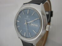 NOS NEW VINTAGE SWISS MADE AUTOMATIC WITH DATE MARVIN MEN'S ANALOG WATCH 1960'S