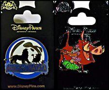 Disney Parks 2 Pin Lot LION KING Hakuna Matata + Pumba & Timon