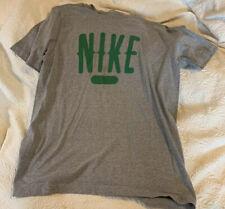 Nike Shirt Regular Fit Gray Shirt Cotton Medium Green Logo