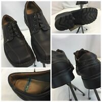 Clark's Oxford Shoes sz 12 Men Brown Leather Lace Worn Twice YGI H9S-37
