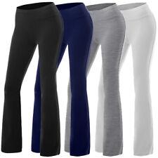 New Women Slim Fitness Foldover SPROTS YOGA Active Basic High Waist Pants S