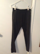 Bar III Faux Leather Outseam Leggings Size L