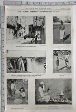 1907 Inde Imprimé Shan Kadoos de Supérieur Burma Parsee Prêtre Poêle Supari
