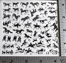Decal Magic Silhouettes Horses Black Enamel High-Fire