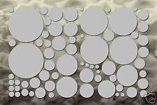 70 Silver Circle Wall Decal Stickers Polka Dot Bedroom Car Sticker