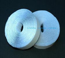 """5 Feet 1"""" White Self Adhesive Hook & Loop Tape Fastener WAV25"""