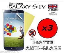 3x Hq Matte Antireflet écran housse protection pour Samsung Galaxy S4 i9500