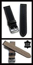 - Vera Pelle Bracciale orologi qualità eccellente, 24mm con stahlschliesse