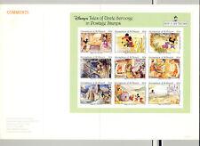 St Vincent (Grenadines) #967 Disney 1v  M/S of 9 Imperf Proof in Folder