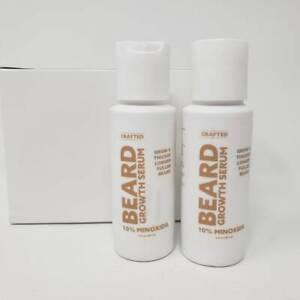 2 Bottles Beard Oil and Growth Serum for a Thicker Longer Fuller Beard 2 fl oz e