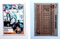 Chris Bando Signed 1983 Topps #227 Card Cleveland Indians Auto Autograph