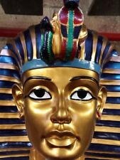 King Tutankhamun's Death Mask  Ornate golden with detailed colours. 50cm tall