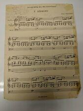 Adagio Sheet Music Organ By Flor Peeters Kromhoorn and Gemshoorn
