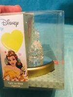 Disney Belle Light Up Glass Figurine Valentines Day Beauty & The Beast NIB