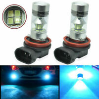 2x H11 H8 100W CREE 8000K Blue LED Projector High Power Fog Driving Lights Bulbs