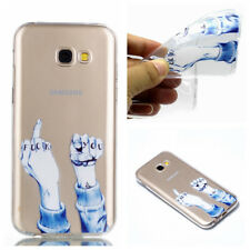Silicone Clear Soft Case Cover For Samsung Galaxy S7 edge S8 S9 Plus A3 A5 2017