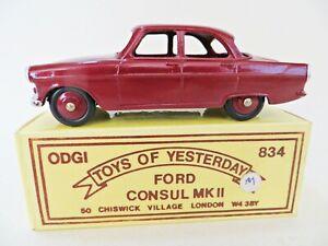 ODGI 834 'FORD CONSUL MkII' METALLIC MAROON. MIB/BOXED. VINTAGE. RARE.