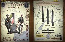 """Calendario INCURSORI ESERCITO ITALIANO 9°RGT COL MOSCHIN """" Paracadutisti 2018"""