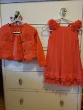 Mayoral  Girlspink orange lace Dress   7 Y ,ikks jacket size 7