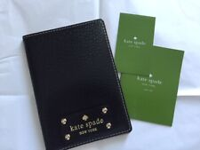 KATE SPADE Black Graham Wellesly Leather Passport Holder (Black)