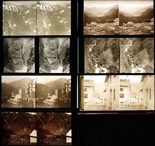 7 170mm x 80mm Glass Stereo Positve Slides of Switzerland. More 3D Images Listed