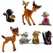 Lot 7 Pcs New Disney Bambi Thumper Flower Bambi Deer 2.5'' Figure N205