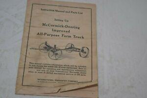 Vintage 1948 International Harvester All Purpose Truck Manual & Parts List