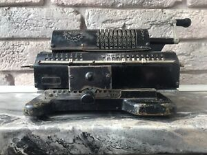 Vintage Arithmometer FELIX Mechanical Calculator Adding Machine Rare Black USSR
