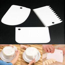 Teigspachtel 3erSet Kunststoff Teigschaber Teigkarte Tortenverzierer Teigkratzer