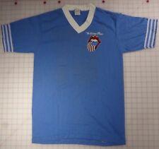 Rolling Stones 81 Medium Vee-neck Blue Soccer Shirt USA Flag Tongue