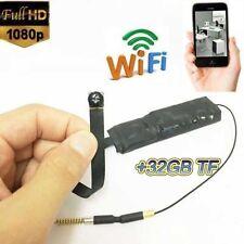 portable HD 1080P WIFI IP Hidden spy camera black screw lens Record DVR +32GB TF