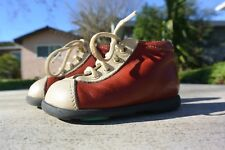Aster red and white leather boots laces euro size 18