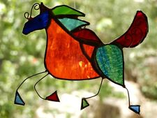 BAROQUE HORSE Stained Glass Lightcatcher ONE OF A KIND BIRTHDAY GIFTS Suncatcher