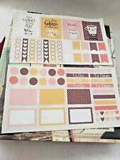 Erin Condren Planner Stickers Kawaii Coffee Tea Stickers Sheets Fall Colors