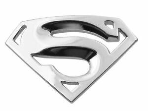 3D Quality Metal Superman Auto logo Emblem Chrome Car Motorcycle Badge -SILVER