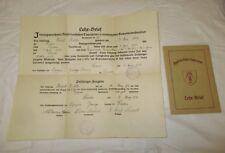 1928 Herbert Richter Lehrbrief Tapezierer Zwangs Innung DRESDEN mit Autographen