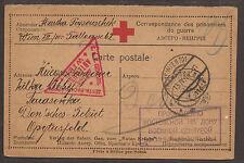 AUSTRIA / RUSSIA. WW1. 1916. RED CROSS POW CARD. WIEN TO TARASOWKA.