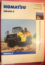 ✪altes original Prospekt/Sales Brochure Komatsu Articulated Dump Truck HM400-2