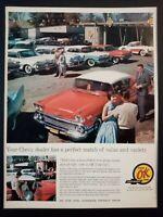 Pubblicità originale CHEVROLET 1961 da rivista in passepartout