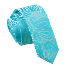 DQT Mens Skinny Tie Floral Paisley Formal Wedding Necktie FREE Pocket Square